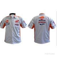 Baju Kemeja MotoGp Honda Repsol Racing Team Putih