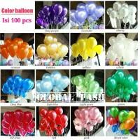 balon metalik per pack / balon metalik 12 inch / balon polos 100 pcs