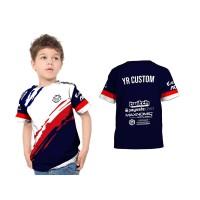 Baju jersey Gaming Game Anak Anak G2 Esport CS:GO FF PUBG Free Nama