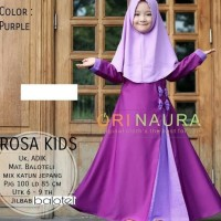 Rossa Kids / Baju Muslim Gamis Anak Perempuan Usia 7 - 9 Tahun - Ungu