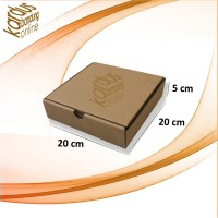 Kardus   Box   Karton Packing (20x20x5) Tipe Dus Pizza Tebal 3 mm
