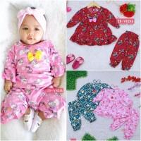 Setelan Baby Cherry uk 3-18 Bulan / Baju Harian Anak Perempuan Piyama