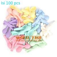 balon latex pastel per pack / balon pastel isi 100 pcs / balon macaron