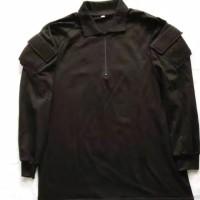 Kaos tactical combat shirt PDL BDU Polos Krah lengan panjang Hitam