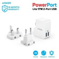 Travel Charger Anker PowerPort Lite 2 Ports White A2022G21