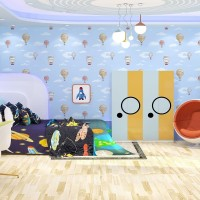 Wallpaper Dinding Murah - 5m2 - Motif Anak - Balon Udara