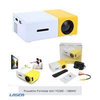 Mini Projektor 1080 HD Portable YG300 | Proyektor Laptop PC Smartphone
