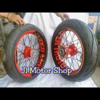 Sepaket Velg SuperMoto Super Moto Honda CRF 150 L plus Ban IRC Warna