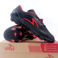 Sepatu Bola Specs Accelerator Infinity II FG Black Red 100969 Original