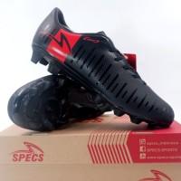 Sepatu Bola Specs Swervo Mojave 19 FG Black Solar Red 100984 Original