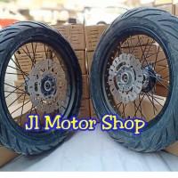 Sepaket Velg Super Moto SuperMoto CRF 150 L Plus Ban IRC Exato / Rx 01