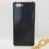 Case Oppo A3S Realme C1 Anticrack Hitam Black Akrilik/Fiber Anti Crack