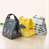 BARU Tas Bekal Makan Cooler Lunch Bag Sekolah Travel Motif Ikan Fish