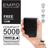 EMPO Compact PowerBank 5000 mAh Smart Charging - Black