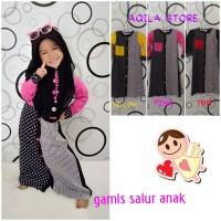 gamis salur anak/baju muslim anak perempuan 2-9 tahun