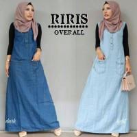 Sumber fashion jakarta - baju OVERAL muslim wanita RIRIS 2 warna - kon