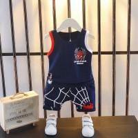 Babyl Setelan Kaos T-Shirt Korea Anak Laki-laki Tanpa Lengan Round