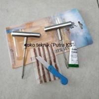BIG SALE Tire Repair Kit Alat Tambal Ban Tubeless Set Full Besi Jap