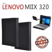 Lenovo Miix 320 - Premium Luxury Elegant Leather Flip Book Case Cover
