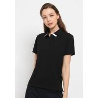 Jack Nicklaus Trudy Polo Shirt Wanita Slim Fit Hitam