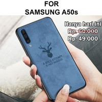 Deer case Samsung A50s softcase casing back cover levis jeans tpu slim