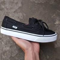 Sepatu Vans Zapato Black White Original Premium