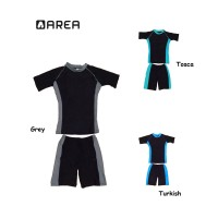 Baju renang (setelan) diving anak polos unisex SD usia 6-10 th