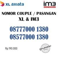 Nomor Cantik Couple / Pasangan Nomer XL & Indosat IM3 Seri Ribuan 1380