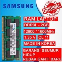RAM NB DDR3L 2GB PC 12800/1600 MHz SODIMM LAPTOP/NOTEBOOK SAMSUNG