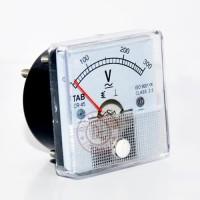 Voltmeter AC DC 300V - CR45 Volt Meter Analog TAB - Murah