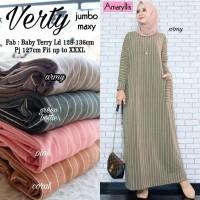 Baju Terusan Wanita Muslim Longdress Verty Jombo Maxy
