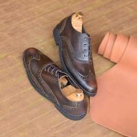 Sepatu Azcost Wingtip Oxford Burgundy Ukuran Besar 44 45 46 47