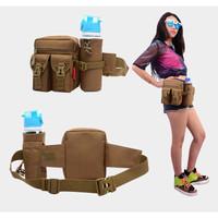 Tas Pinggang Dengan Tempat Botol Tactical Army B321 - Cokelat Muda