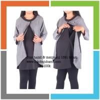 Baju hamil muslimah blus 1591 hitam