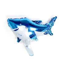Balon Foil Animal Baby Shark / Foil Binatang Ikan Hiu Biru MINI