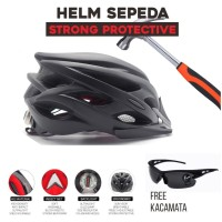 Helm Sepeda High Strength PVC Material with Backlight