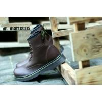 Docmart sepatu pria Dr martens high boots coklat 8hole sepatu Boots
