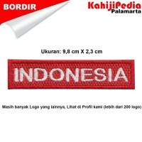Patch bordir emblem bordir badge INDONESIA
