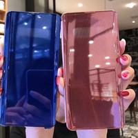 Clear View Motif mirror Cover Flip Case Samsung Galaxy A70 2019