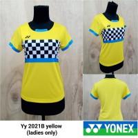 Baju kaos badminton cewek Yonex 2021B YELLOW kaos yonex minion import