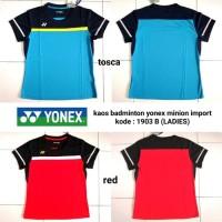 Baju kaos badminton cewek Yonex 1903B (LADIES) kaos yonex minion impor