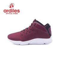 Ardiles Men Sedona Sepatu Basket - Maroon Hitam