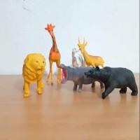Mainan Binatang Karet Animal Kingdom Kecil 6karakter animal