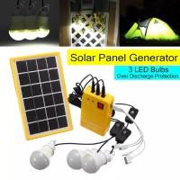 Sistem Generator Panel Tenaga Surya 5V dengan Lampu LED Untuk Taman Ru