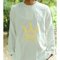 Baju Koko Putih Polos Lengan Panjang Baju Koko Tanpa Kerah Al Habib