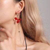 anting bunga panjang asimetris asymmetric petal earrings jan174