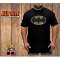 Big Size Kaos New Batman Logo Baju Jumbo XL-XXXL Pria Dewasa Superhero