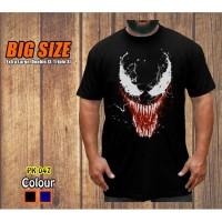 Big Size Kaos Venom Baju Jumbo XL-XXXL Pria Dewasa Superhero - Biru, XL