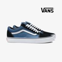 Sepatu Sneakers Vans Old School / OldSkool Navy Pria Wanita Original