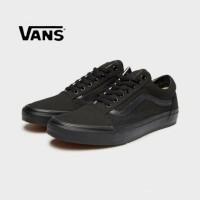 Sepatu Sneakers Vans Old School Full Black / Hitam Pria Wanita New Ori